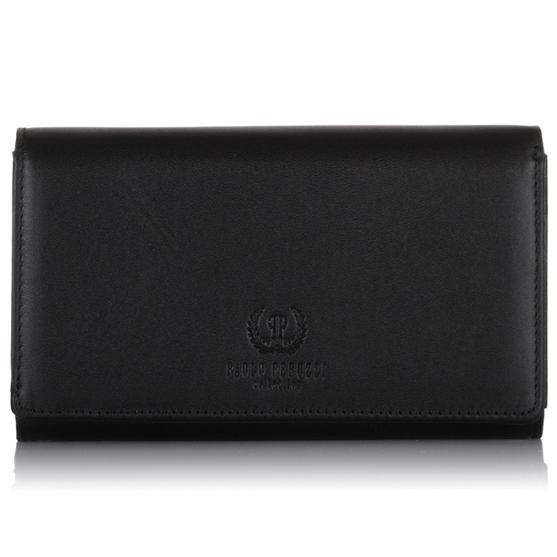 czarny portfel damski