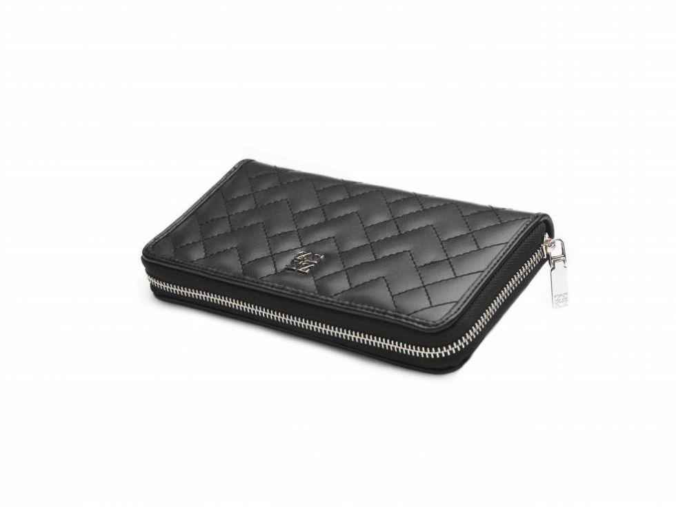 czarny portfel zien biedronka