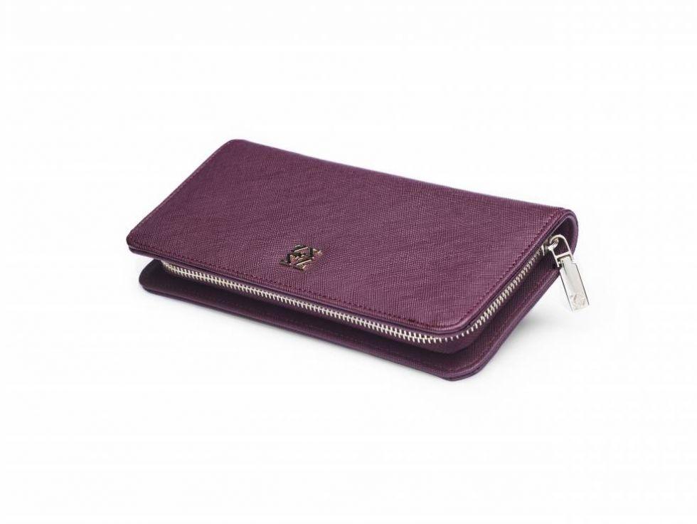 fioletowy portfel zien biedronka