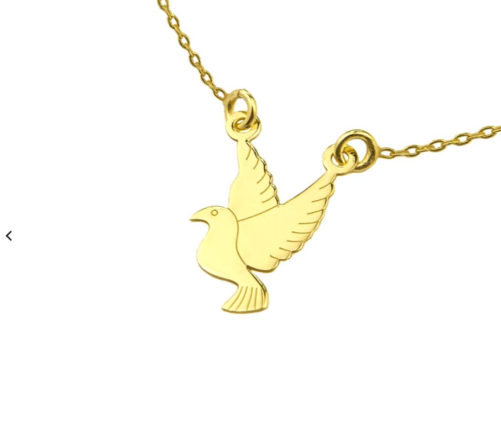złota celebrytka ptak