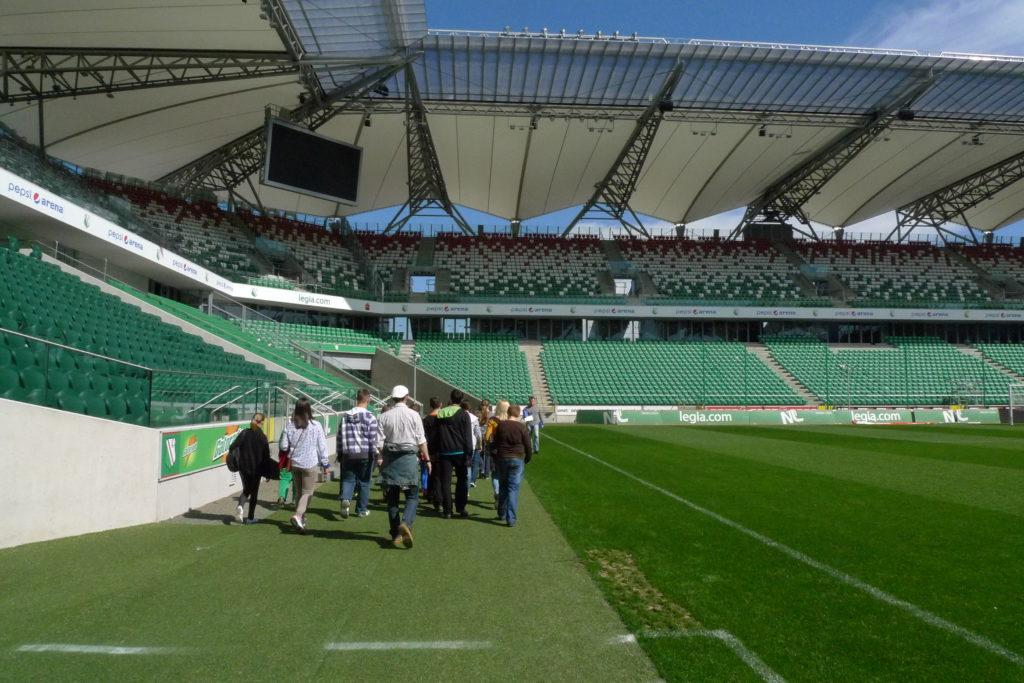 zwiedzanie stadionu legii na prezent