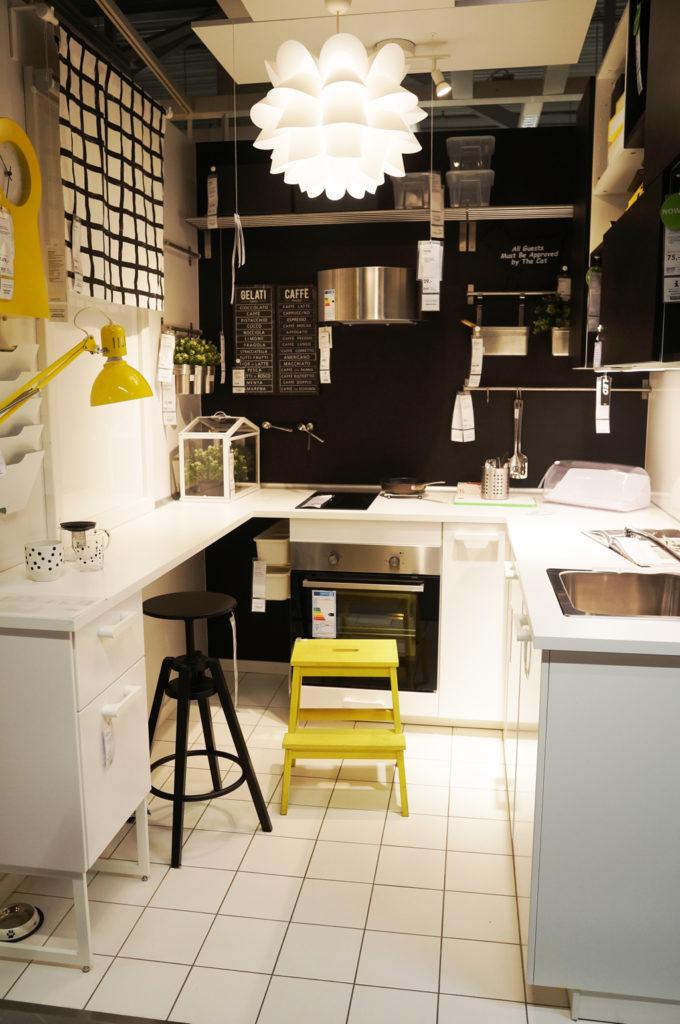 kuchnia ikea żółto czarna