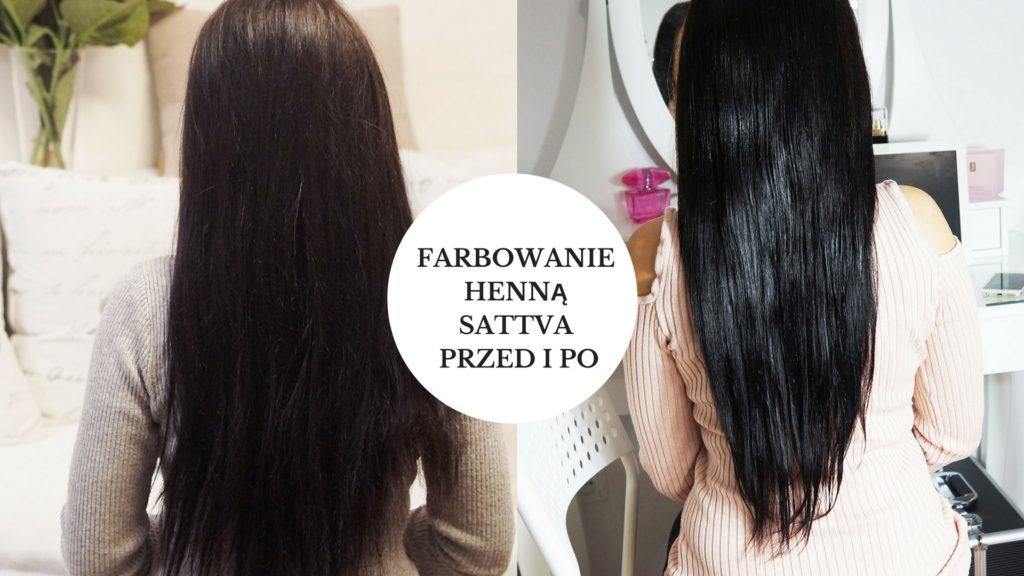 Farbowanie henną przed i po