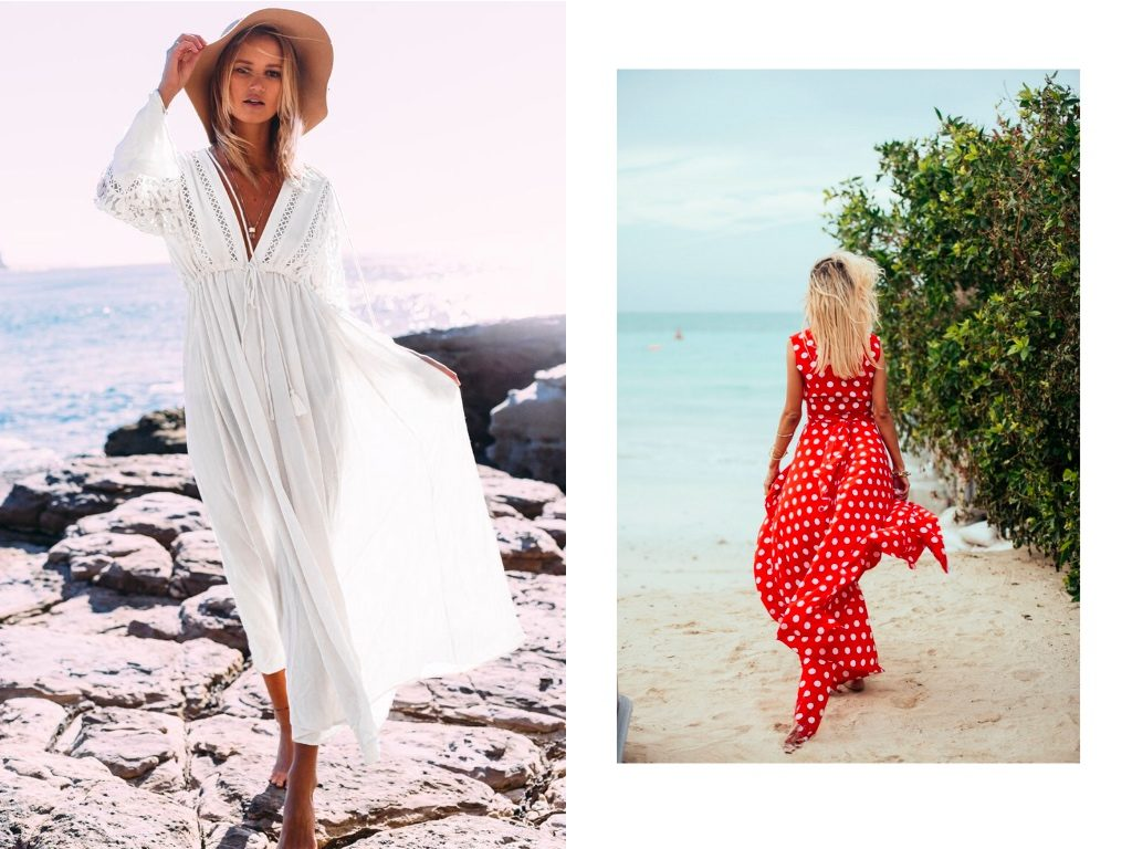 maxi sukienki na plaze