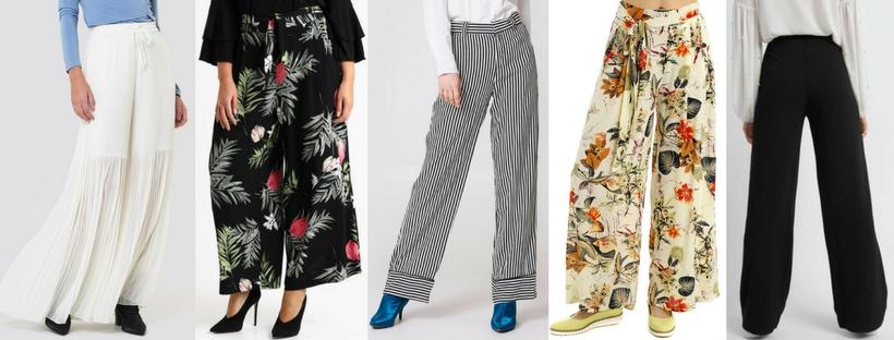 modne spodnie palazzo na wakacje 2018