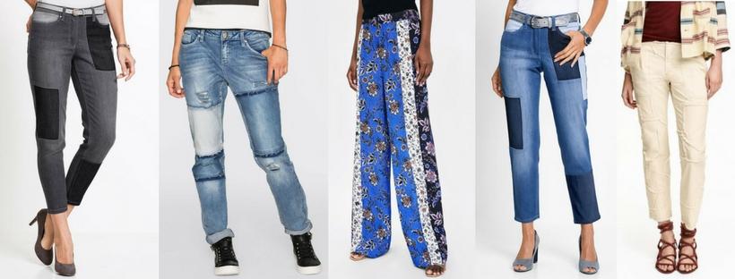 spodnie patchwork na lato 2018