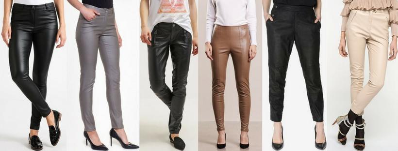 skórzane spodnie na lato 2018