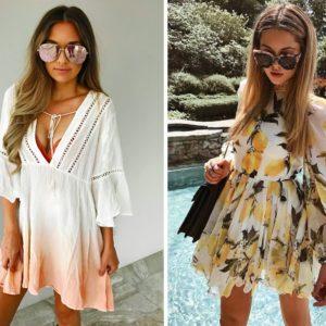 Sukienki letnie plażowe – przegląd największych trendów 2018