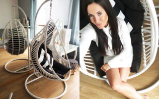 kokon fotel biały