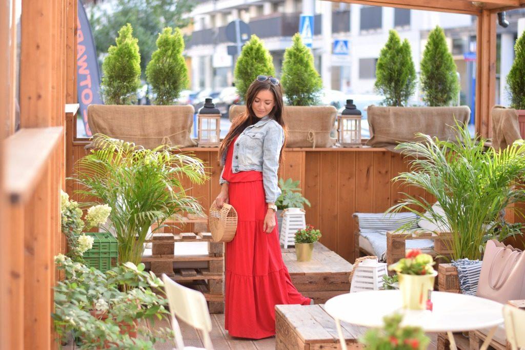 maxi sukienka czerwona