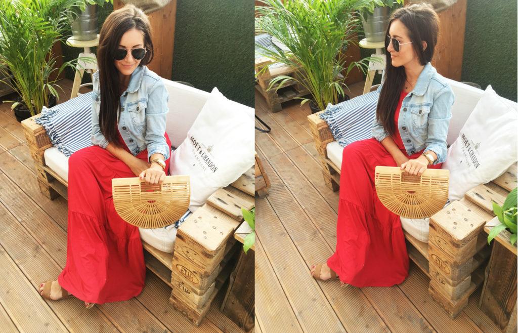 sukienka czerwona hiszpanka w stylizacji