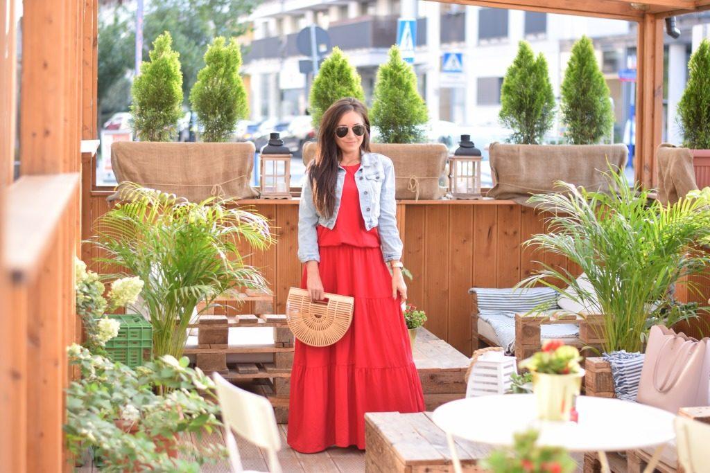 sukienka maxi czerwona