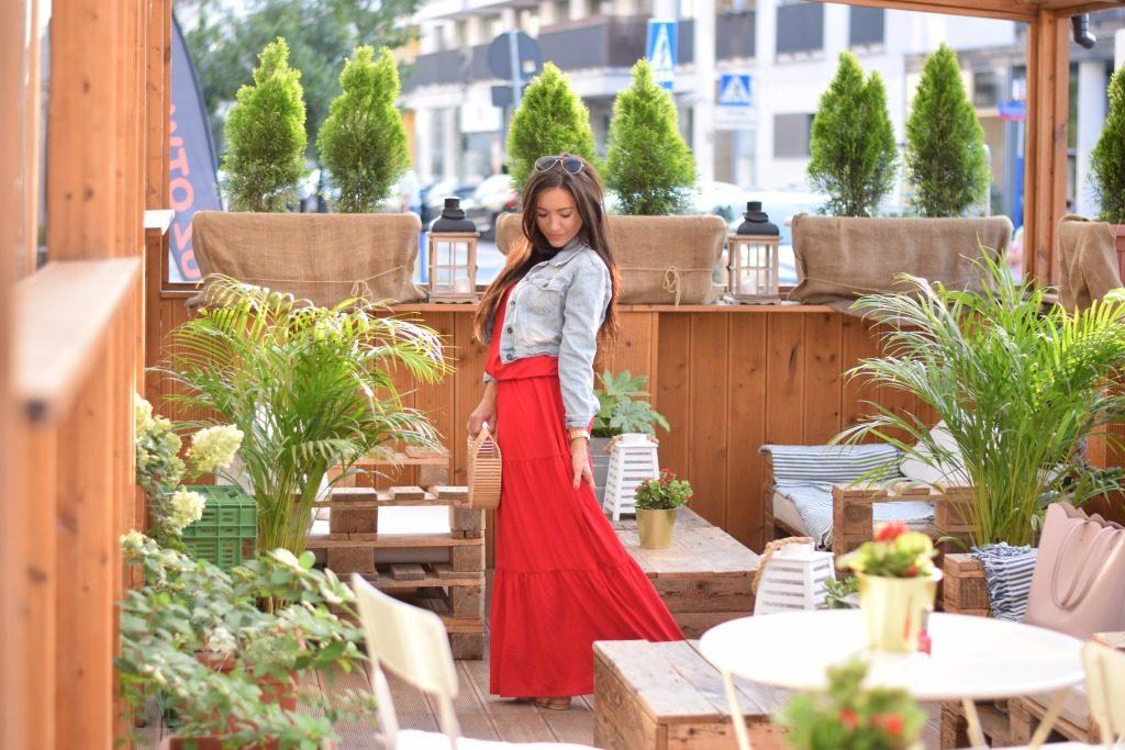 sukienka maxi czerwona hiszpanka