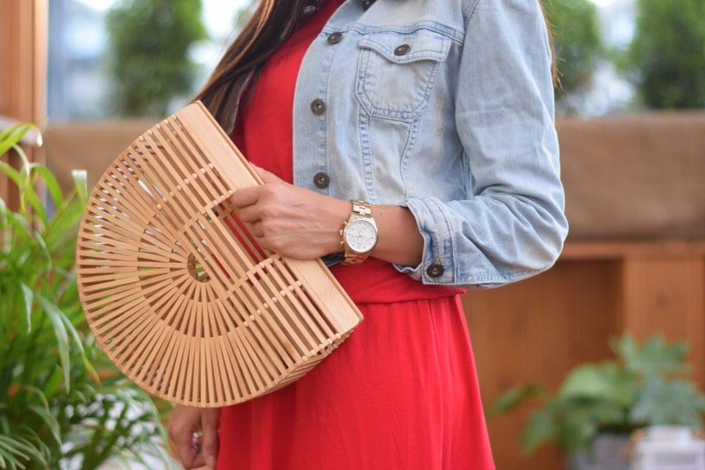 torebka koszyk bambusowy