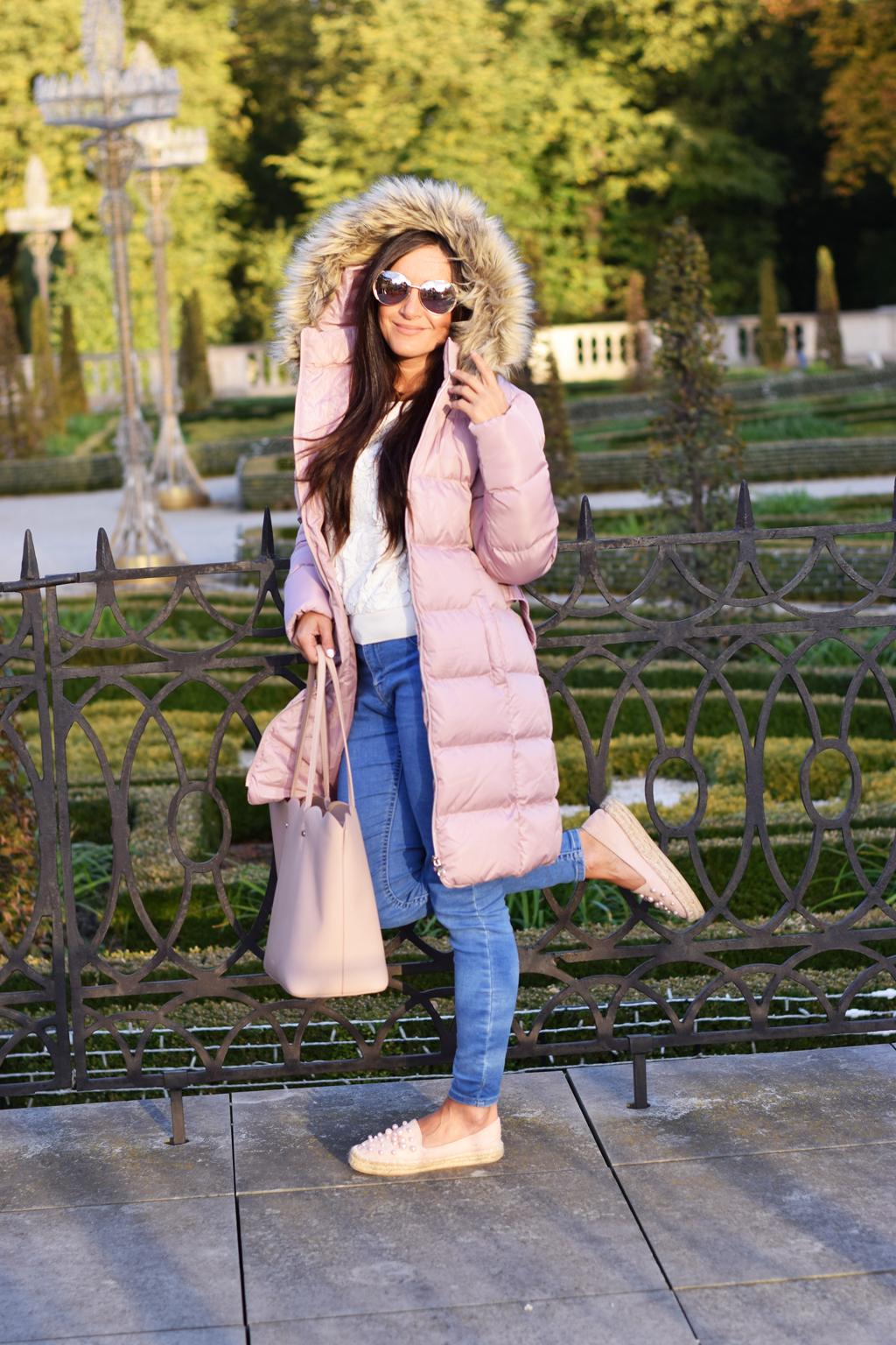 kurtka pikowana różowa