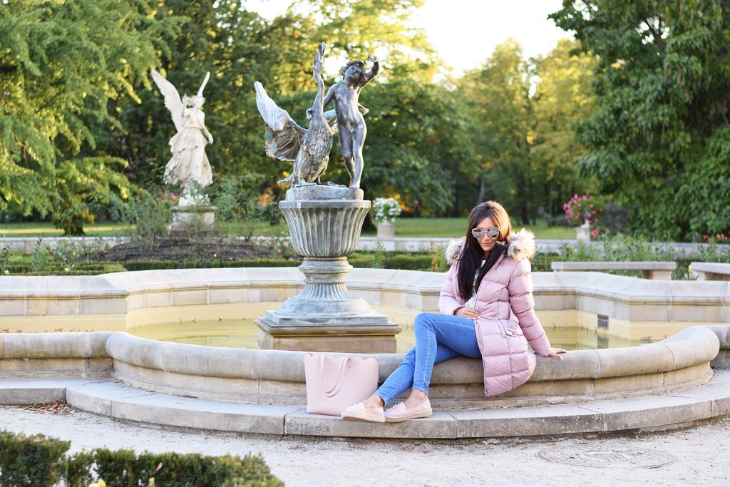 kurtka różowa pikowana jesień 2018