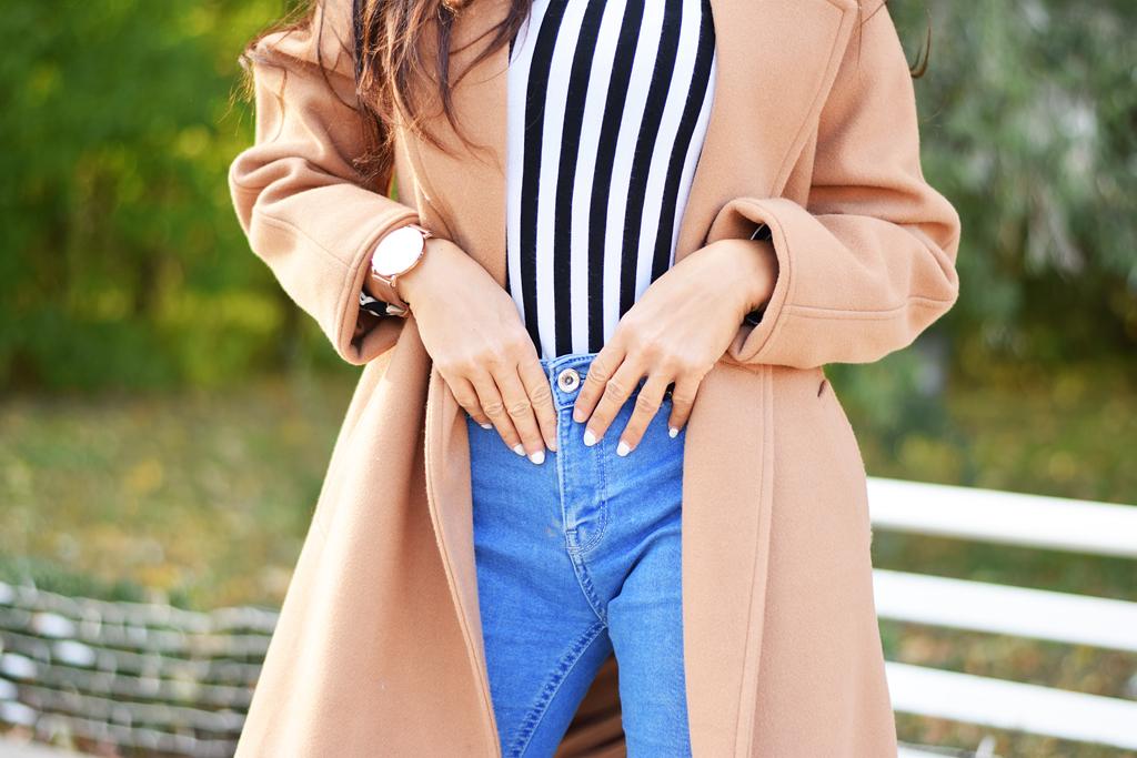 płaszcz camel na jesień