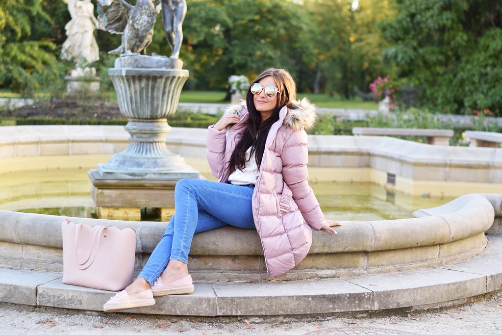 różowa pikowana kurtka 2018