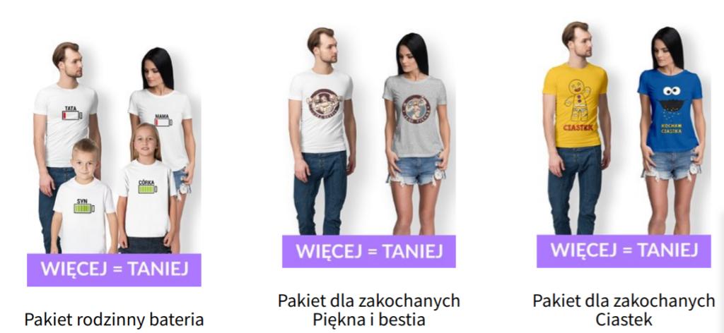 pakiety koszulek