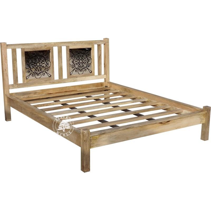 meble ekologiczne skandynawskie łóżko