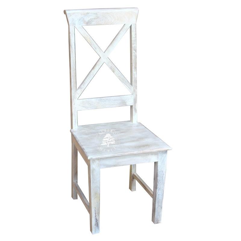 meble skandynawskie białe krzesło