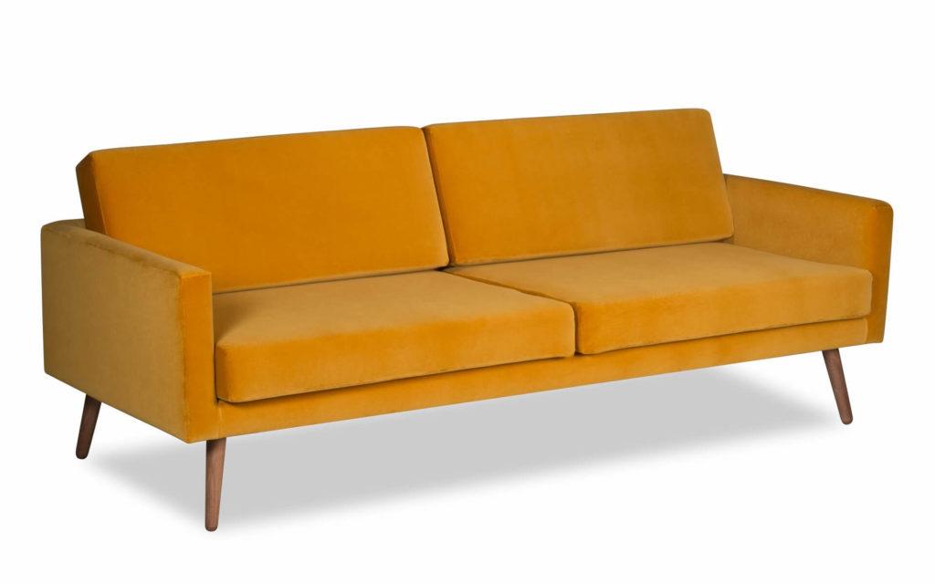 żółta sofa skandyanwska