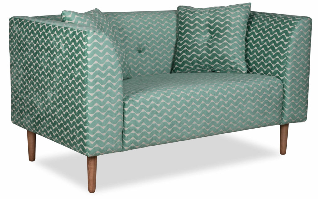 pastelowa sofa skandynawska