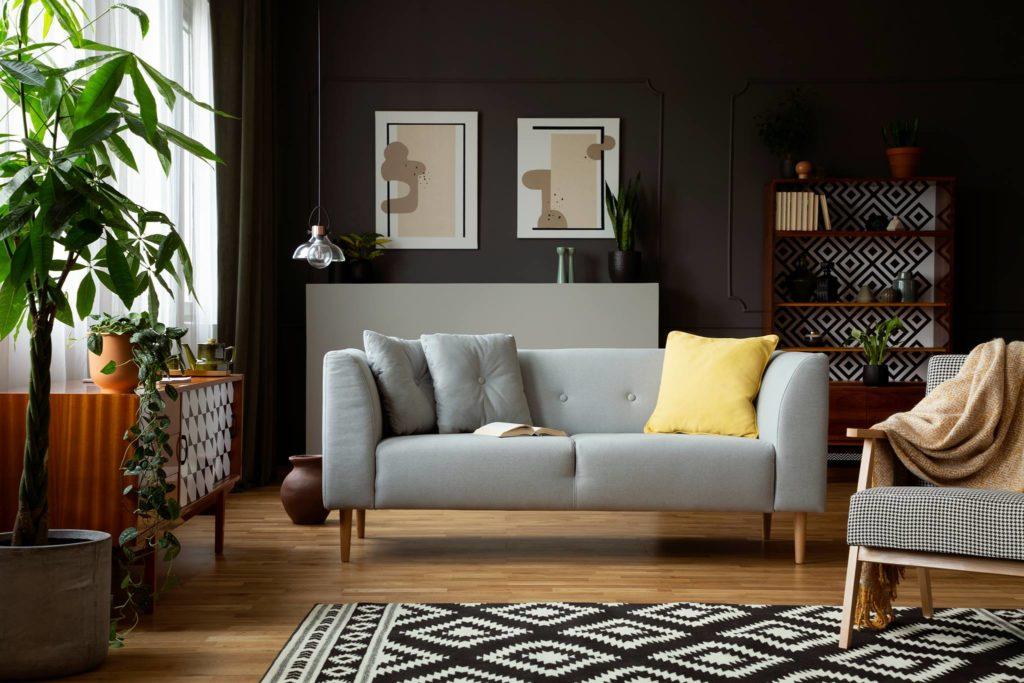 sofa do skandynawskiego salony