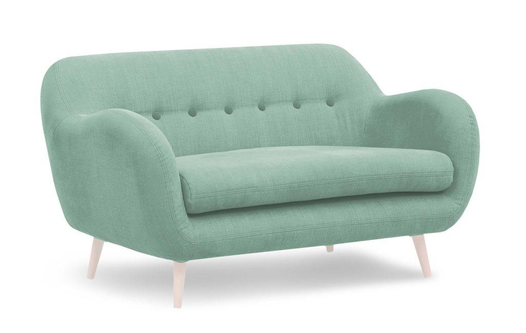 sofa miętowa skandynawska