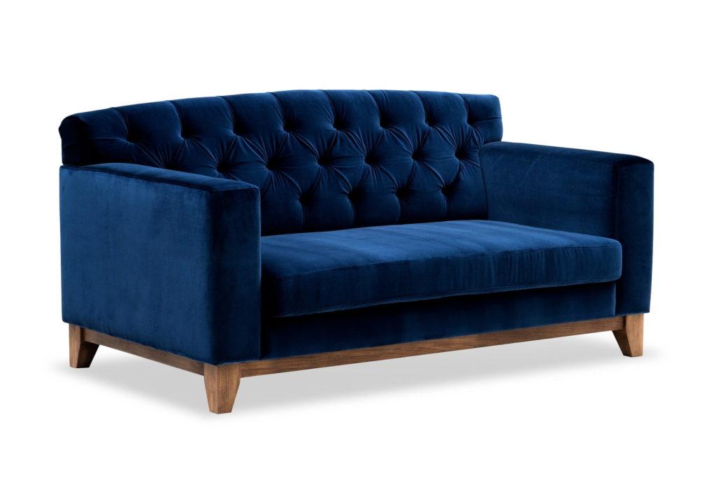 sofa skandynawska granatowa