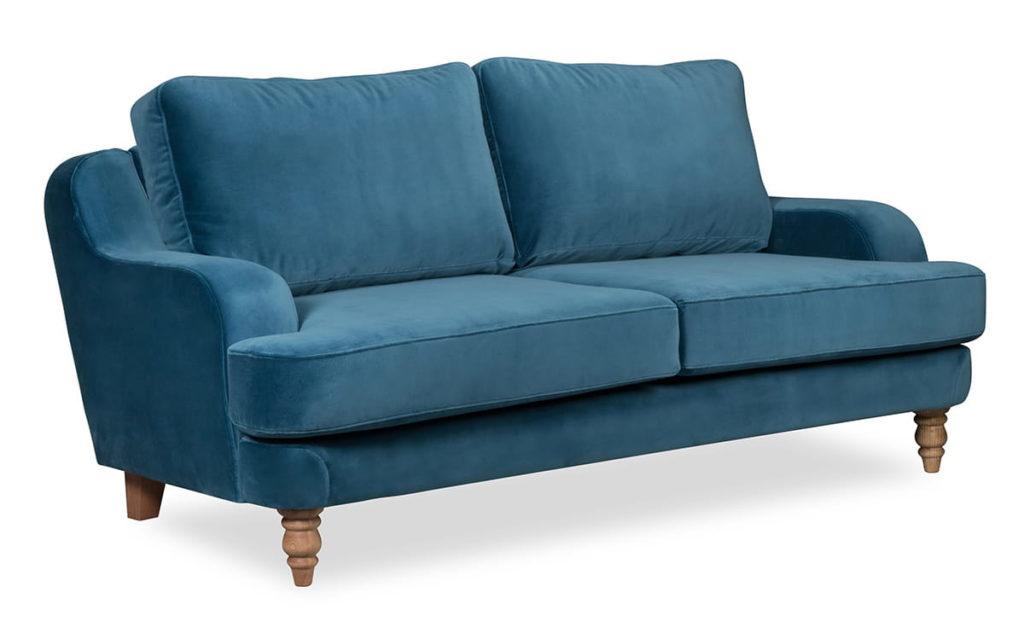 sofa skandynawska niebieska
