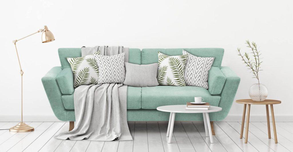 sofa skandynawska salon