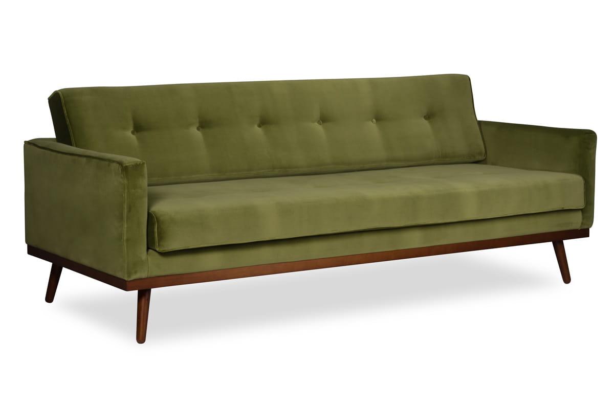 zielona sofa skandynawska