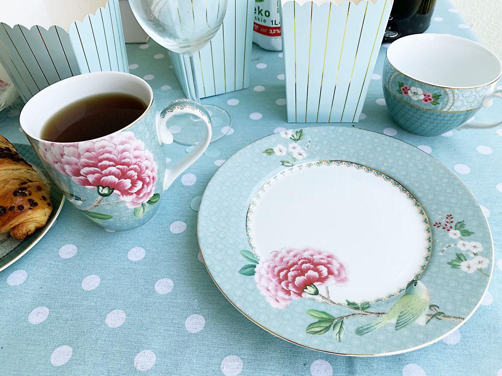 pastelowa porcelana talerz