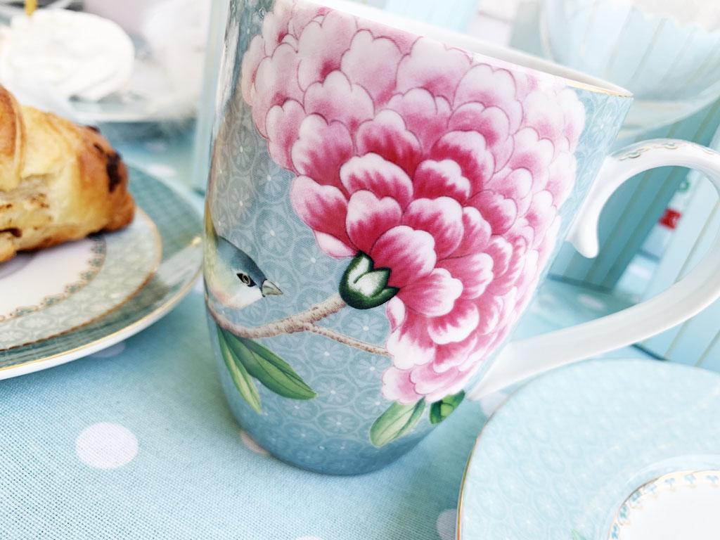porcelana pastelowa kubek