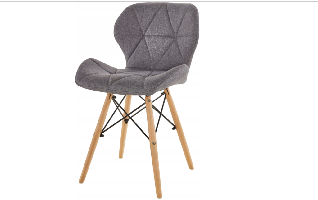 szare krzesło skandynawskie
