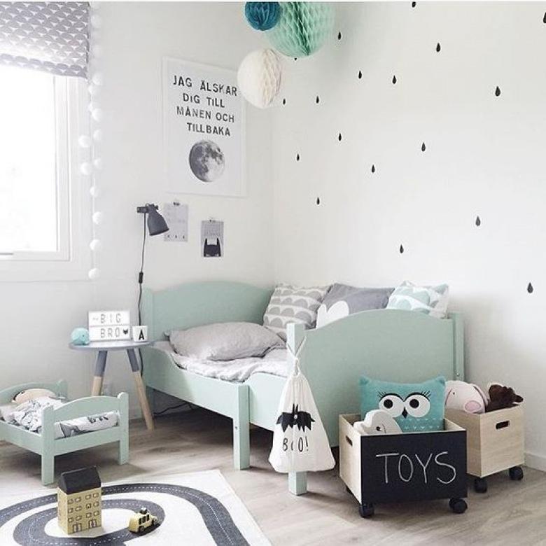 Miętowy pokój dla dziecka