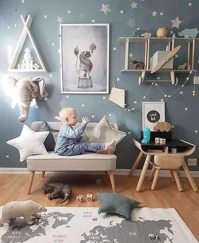 baby blue pokój dla chłopca