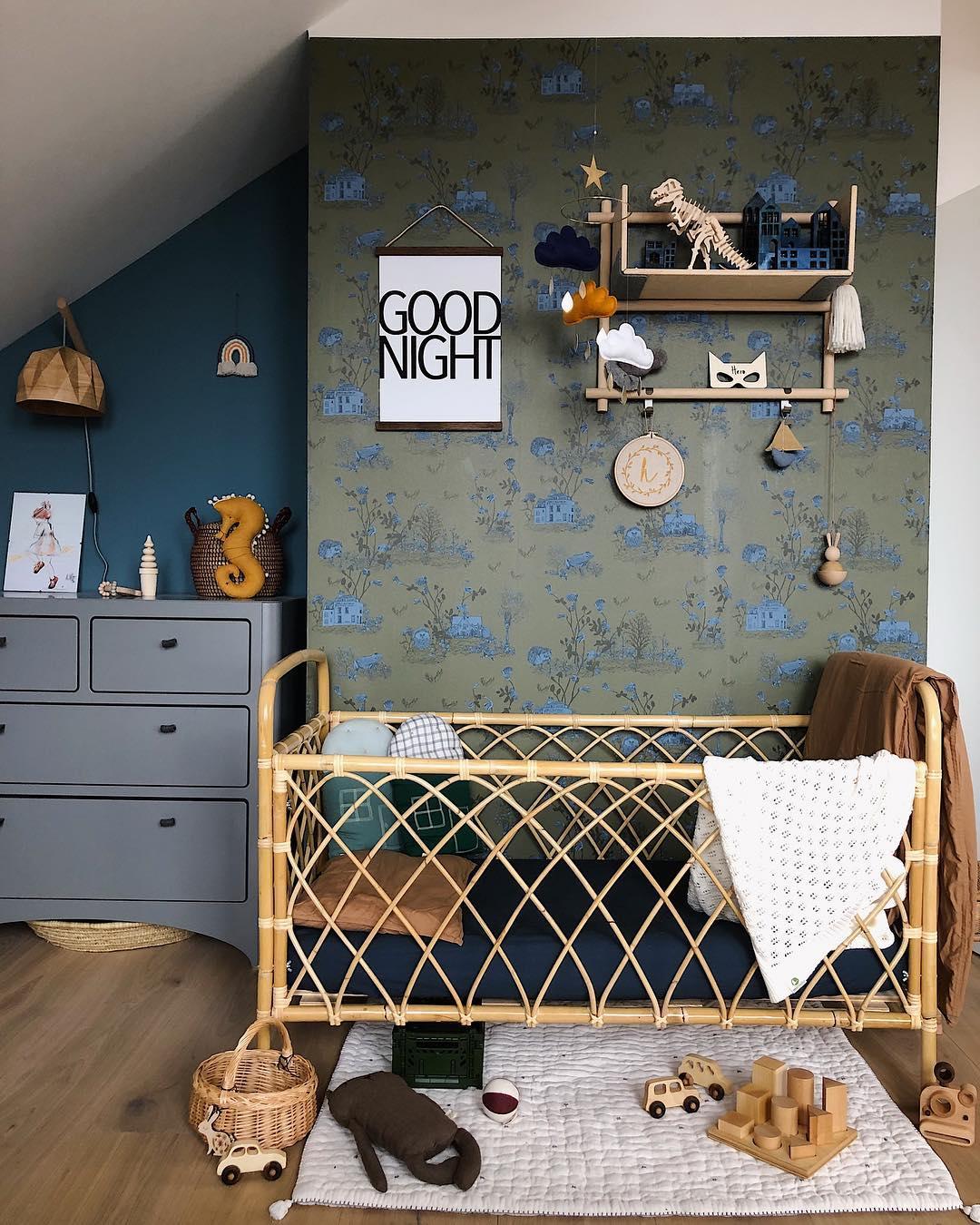 bambusowe łóżeczko dla dziecka
