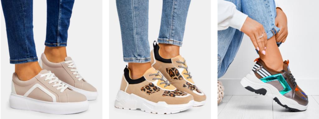 beżowe sneakersy