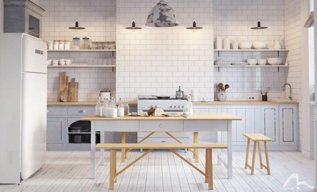 biała kuchnia skandynawska