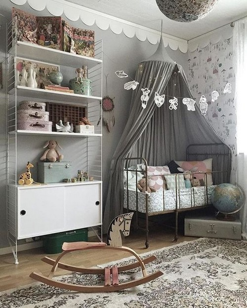 pastelowy pokój dla niemowlaka