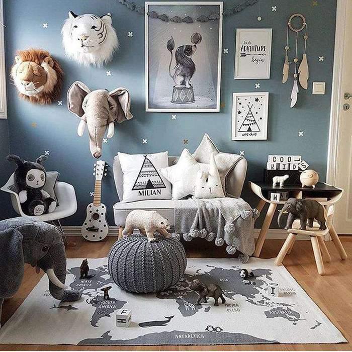 pokój dla chłopca baby blue