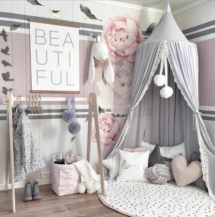 pokój dla dziecka w pastelowych kolorach