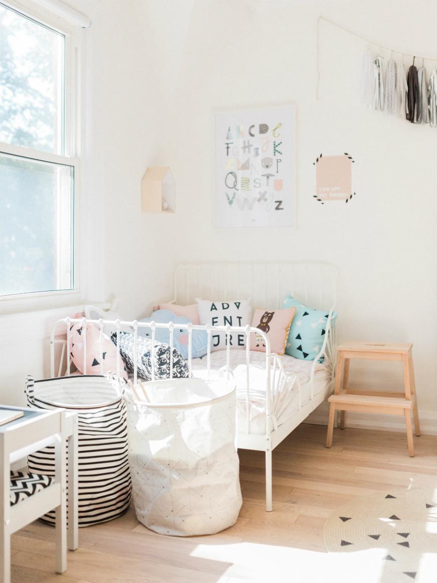 skandynawska sypialnia dla dziecka