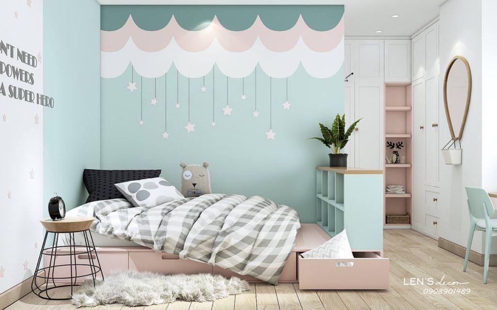 skandynawski pokój dla dziecka w pastelowych kolorach