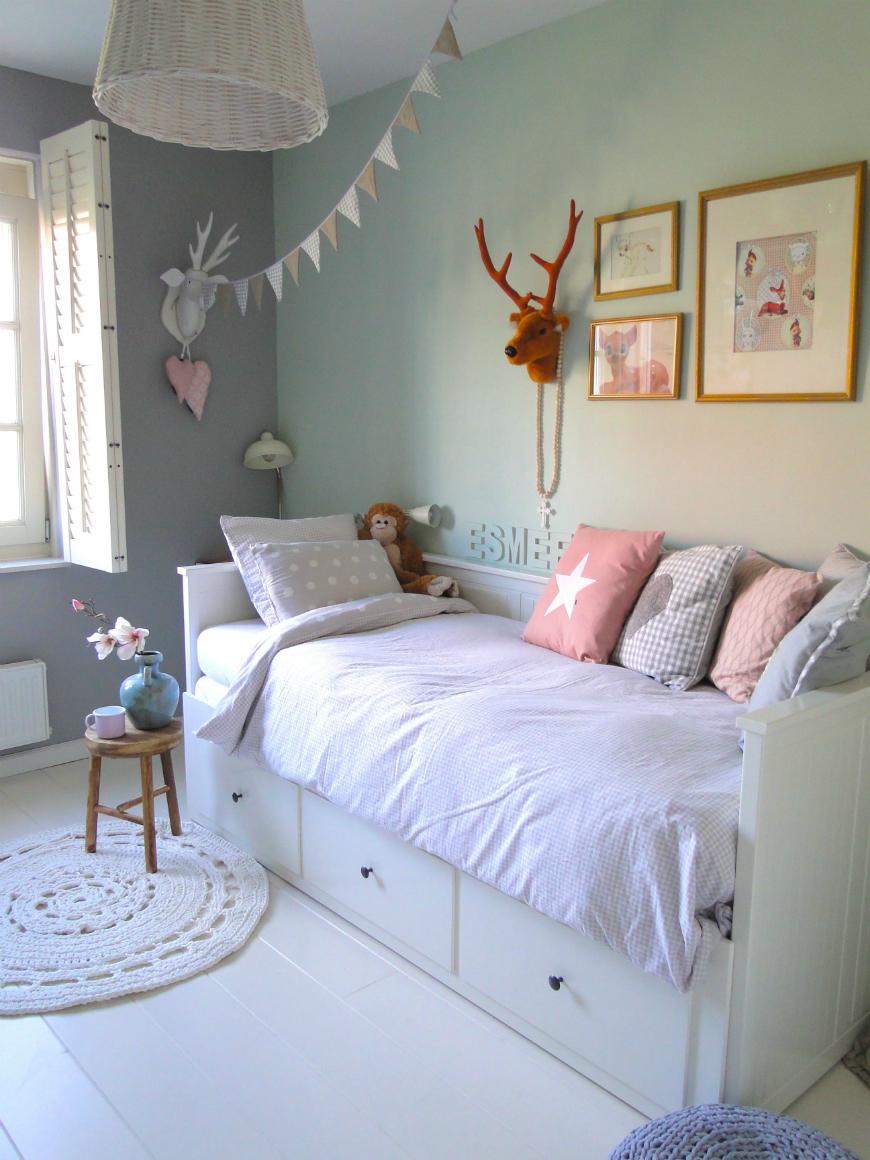 sypialnia dla dziecka pastelowa