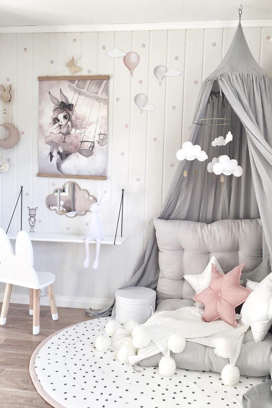 szary pokój dla dziecka pastelowy