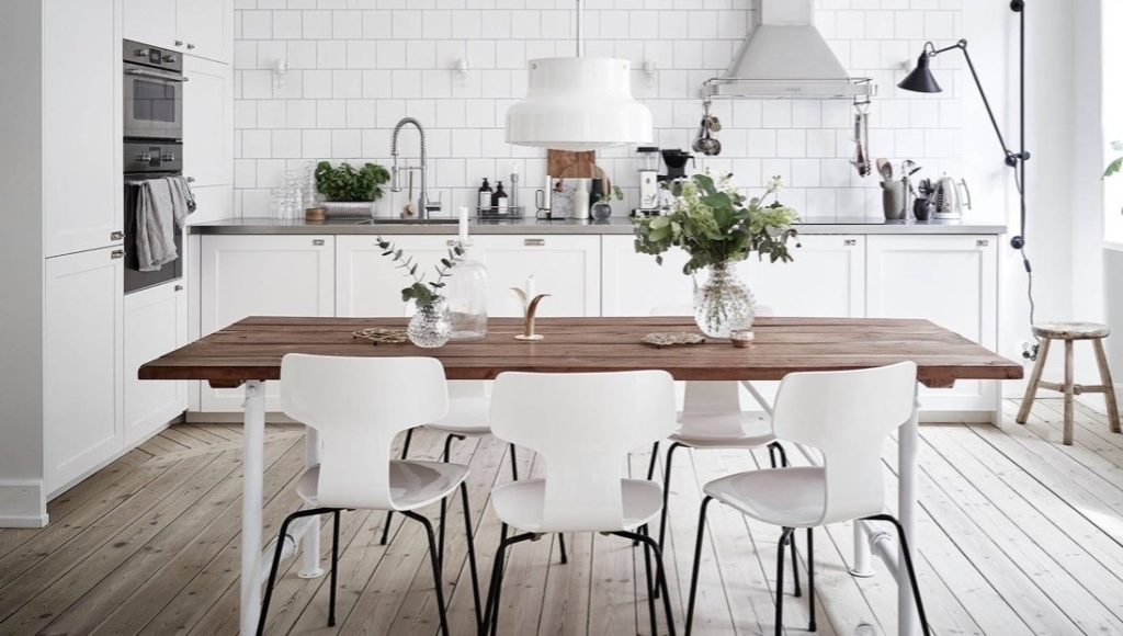 wystrój skandynawskiej kuchni