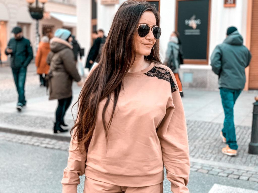 bluza dresowa elegancka